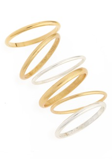Madewell Set of 6 Delicate Stacking Rings