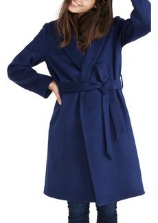 Madewell Shawl Collar Wrap Coat