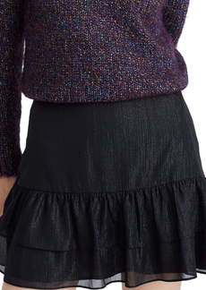 Madewell Shimmer Ruffle Hem Miniskirt