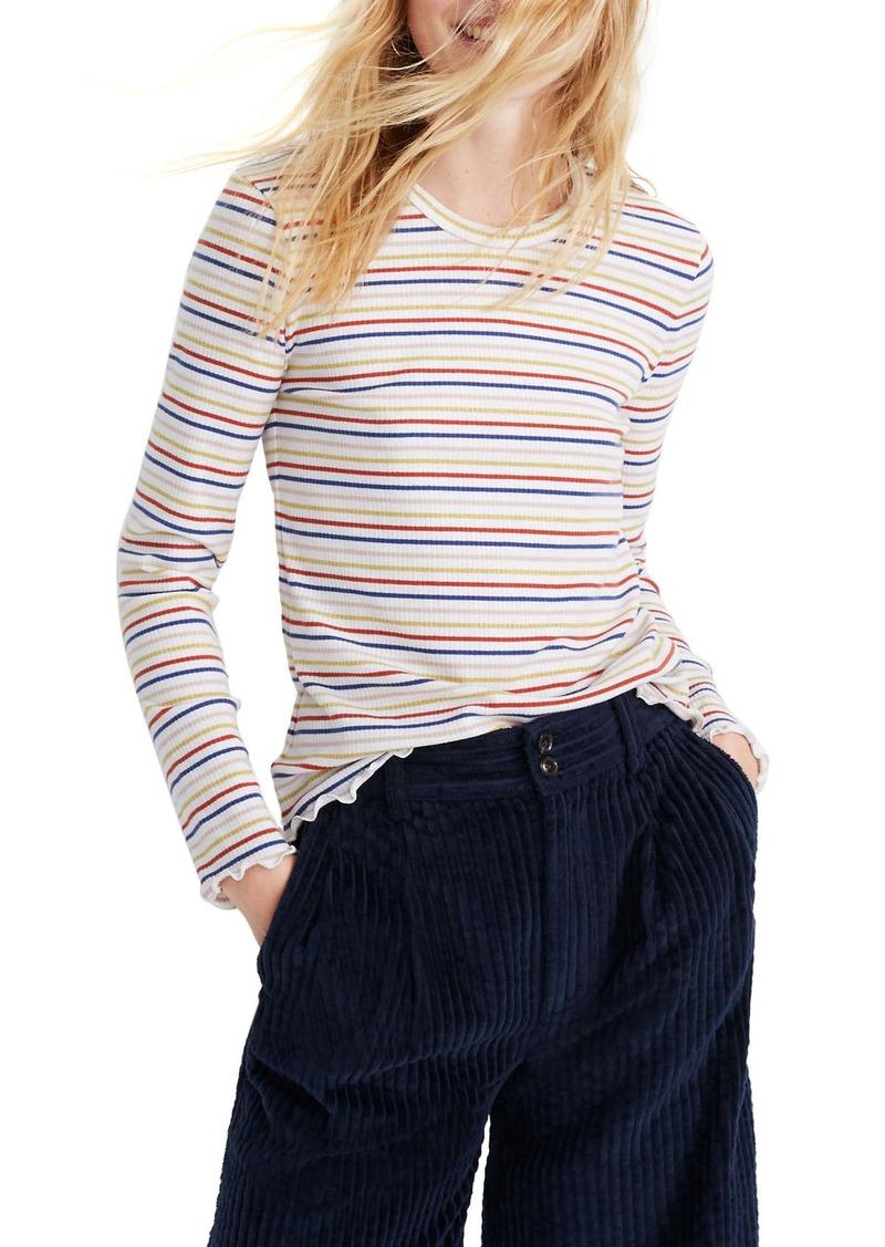 Madewell Shimmer Stripe Long Sleeve Baby Tee