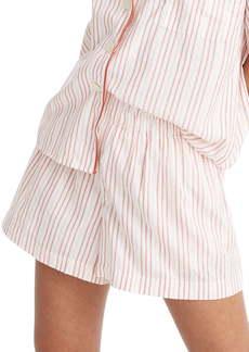 Madewell Shimmer Stripe Oversize Pajama Shorts
