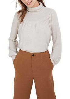 Madewell Shirred Balloon Sleeve Turtleneck Sweater