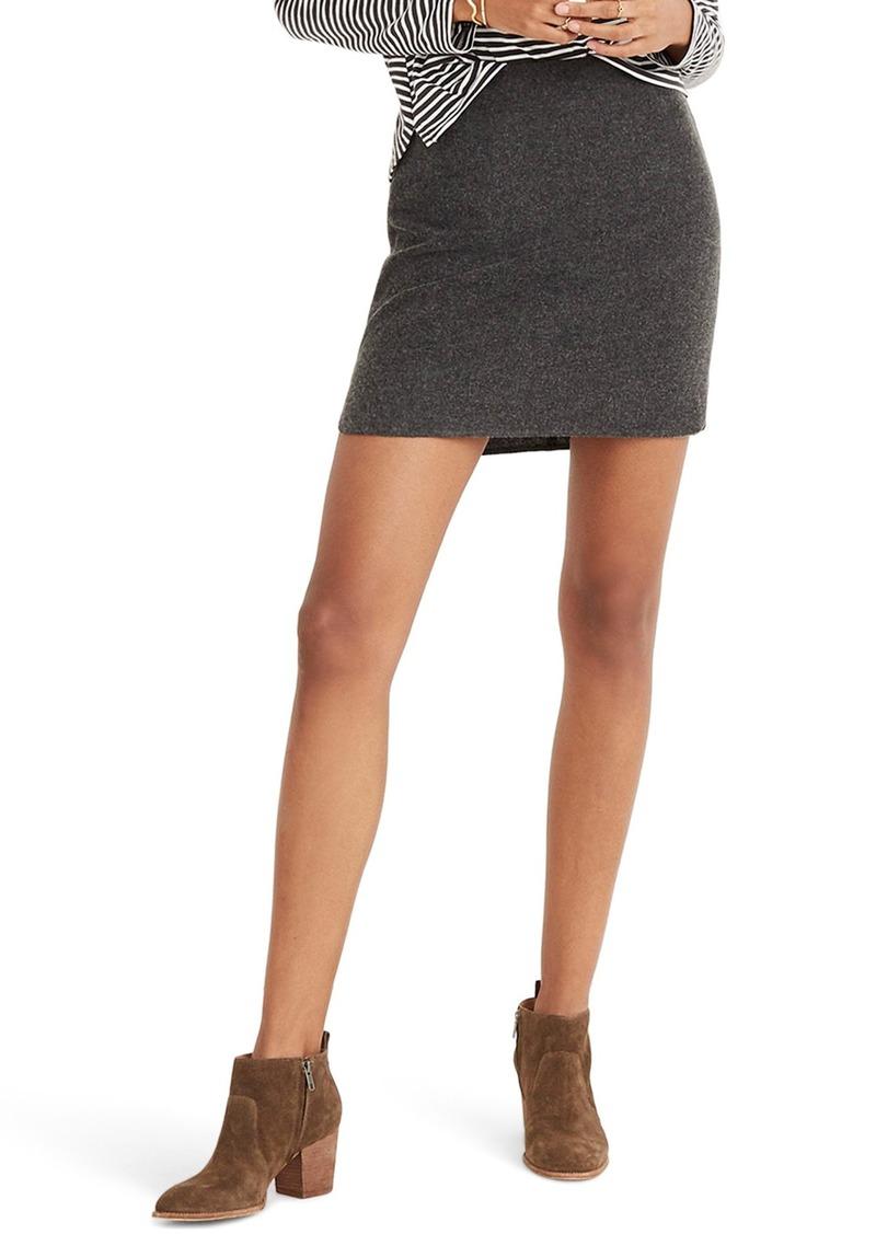 Madewell Shirttail Miniskirt