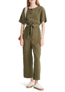 Madewell Short Sleeve Belted Jumpsuit
