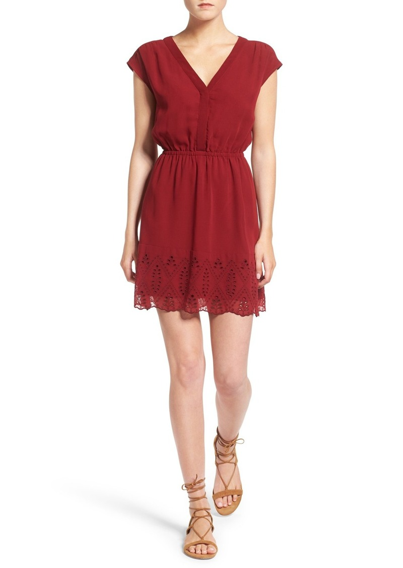 Madewell Short Sleeve Embroidered Minidress