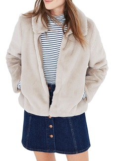 Madewell Shrunken Faux Fur Jacket