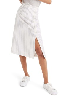 Madewell Side-Button Midi Skirt