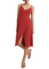 Madewell Side Button Wrap Cami Dress