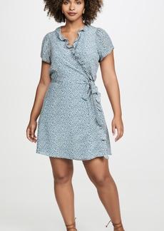 Madewell Silk Ruffle Wrap Dress