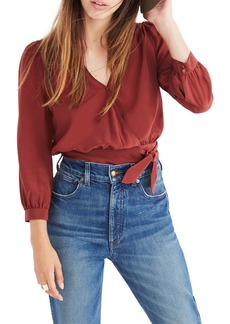Madewell Silk Wrap Top