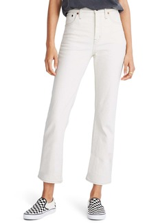 Madewell Slim Demi-Boot Ankle Jeans (Cloud Lining)