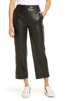 Madewell Slim Emmett Women's Faux Leather Wide Leg Pants