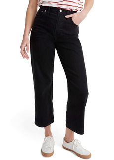 Madewell Slim Fit Wide Leg Jeans (Lunar Wash)