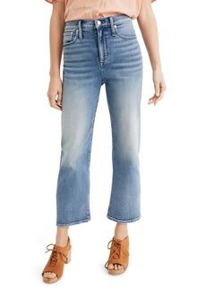 Madewell Slim Wide Leg Crop Jeans (Reggie Wash)