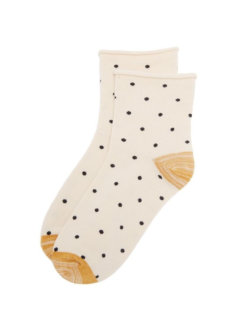 Madewell Small Dot Ankle Mid Socks