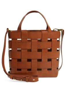 Madewell Small Transport Basketweave Leather Crossbody Bag