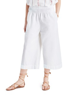 Madewell Smocked High Waist Culottes