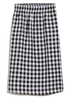 Madewell Smocked Waist Midi Skirt