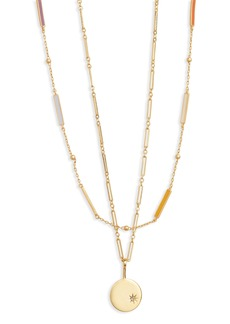 Madewell Spark Pendant Necklace Set