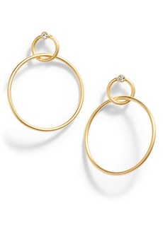Madewell Sparkle Double Hoop Earrings