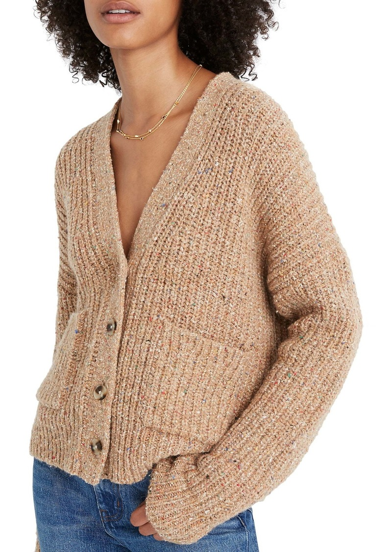 Madewell Speckled Rib Cardigan Sweater