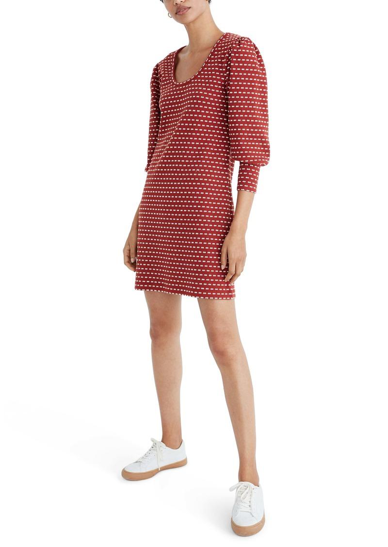 Madewell Square Neck Long Sleeve Minidress