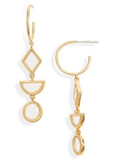 Madewell Stained Glass Drop Hoop Earrings