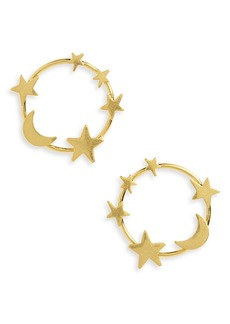 Madewell Star & Moon Hoop Earrings