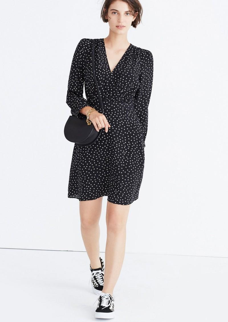 d4f382cf4f Madewell Madewell Star Print Silk A-Line Dress