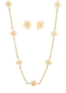 Madewell Starshine Necklace and Earring Set