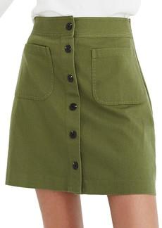 Madewell Station Button Front Miniskirt