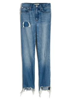 Madewell Step Hem Classic Straight Jeans (Corrie Wash)