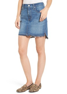 Madewell Step Hem Denim Skirt (Brandt Wash)