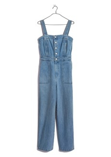 Madewell Stitched Strap Denim Jumpsuit