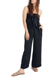 Madewell Strapless Tie Front Jumpsuit