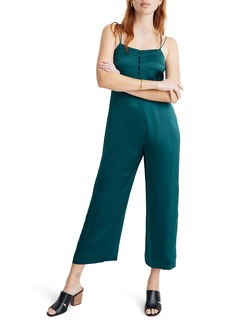 Madewell Strappy Satin Jumpsuit
