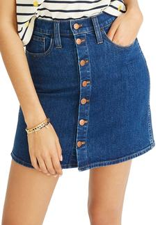 Madewell Stretch Denim Straight Miniskirt