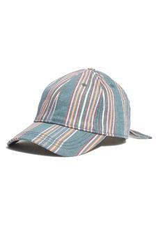 Madewell Stripe Baseball Cap