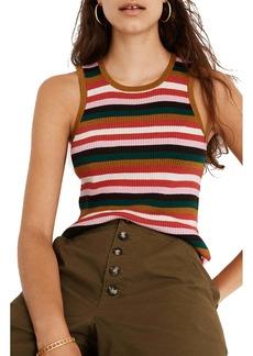Madewell Stripe Bayford Sweater Tank