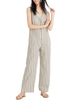Madewell Stripe Button Down Jumpsuit