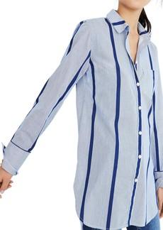 Madewell Stripe Button Down Tunic Shirt