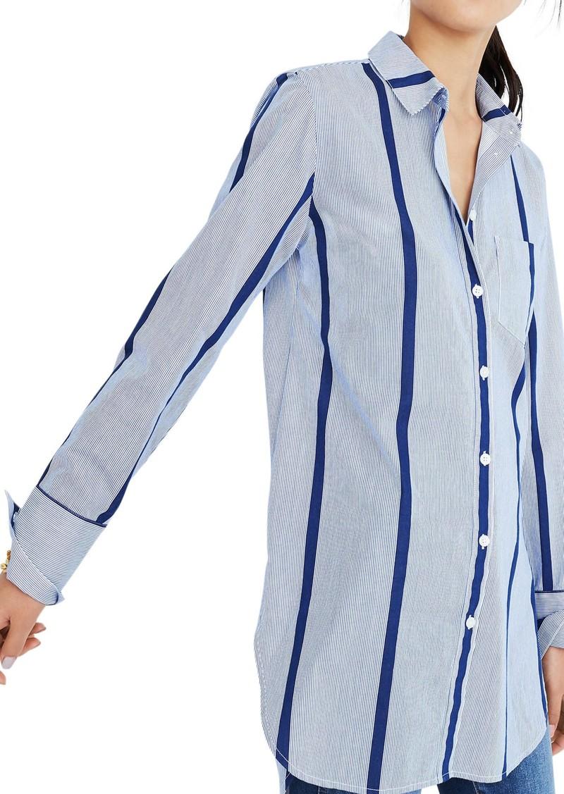 3559fa0440 Stripe Button Down Tunic Shirt
