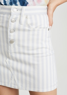 Madewell Stripe Button Front Frisco Skirt