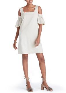 Madewell Stripe Cold Shoulder Shift Dress