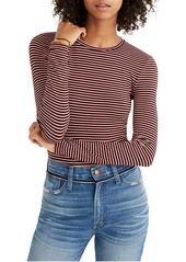 Madewell Stripe Crewneck Thong Bodysuit