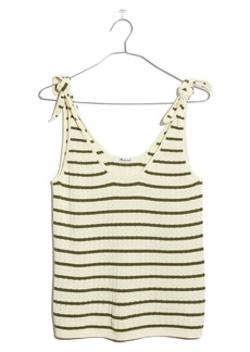 Madewell Stripe Digby Tie Strap Sweater Tank