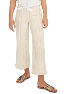 Madewell Stripe Emmett Crop Wide Leg Pants