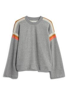 Madewell Stripe Inset Varsity Sweatshirt
