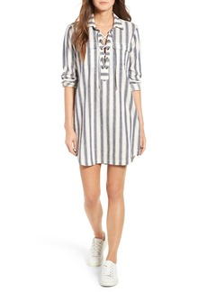 Madewell Stripe Linen & Cotton Shirtdress