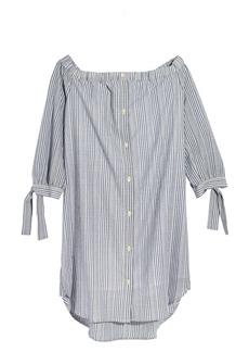 Madewell Stripe Off the Shoulder Shift Dress